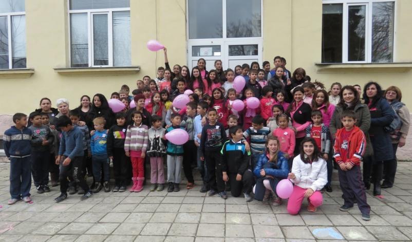 Учениците от община Аврен, отбелязаха Деня на розовата фланелка